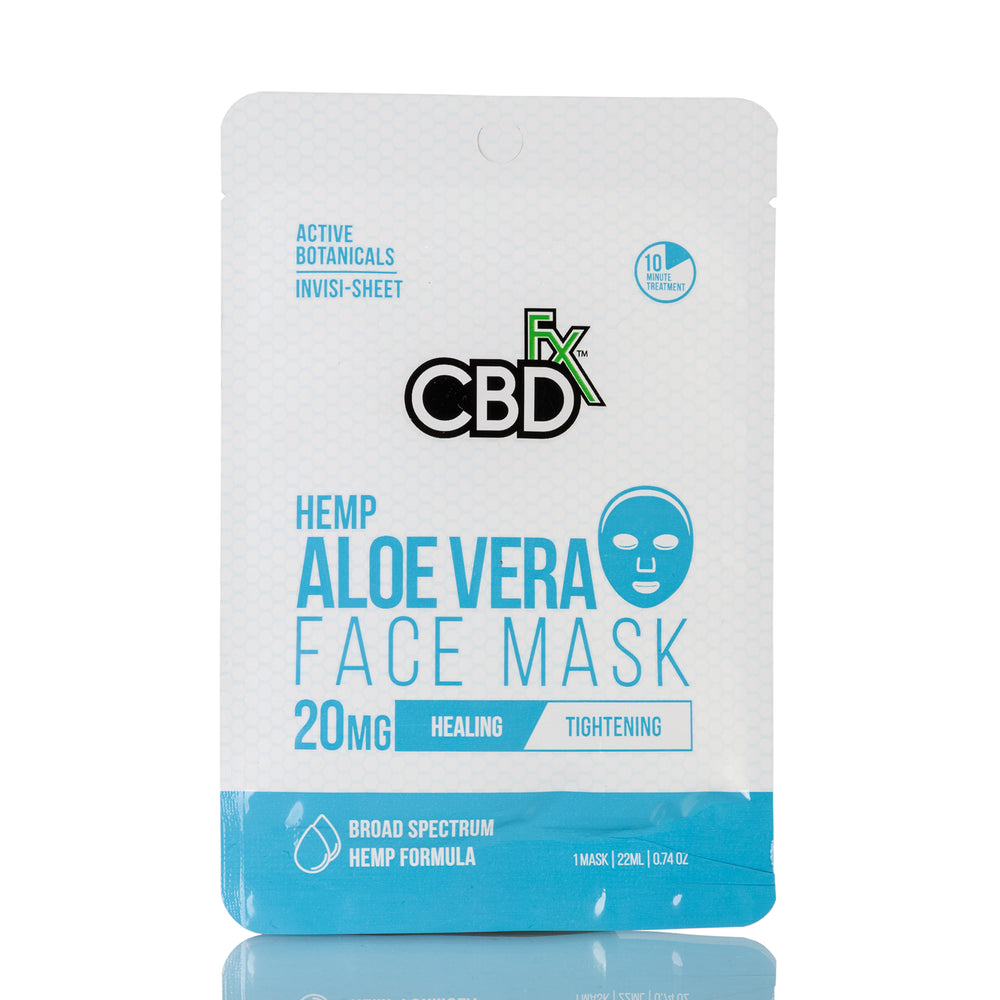 Hemp Aloe Vera Face Mask by CBDfx - 20mg