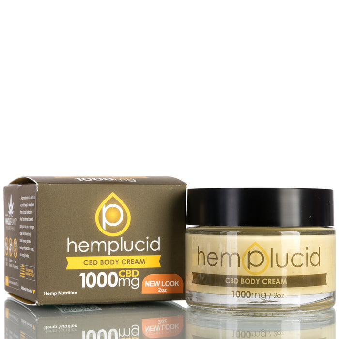 Hemp CBD Body Cream by Hemplucid CBD Lotion - 1000mg/2oz