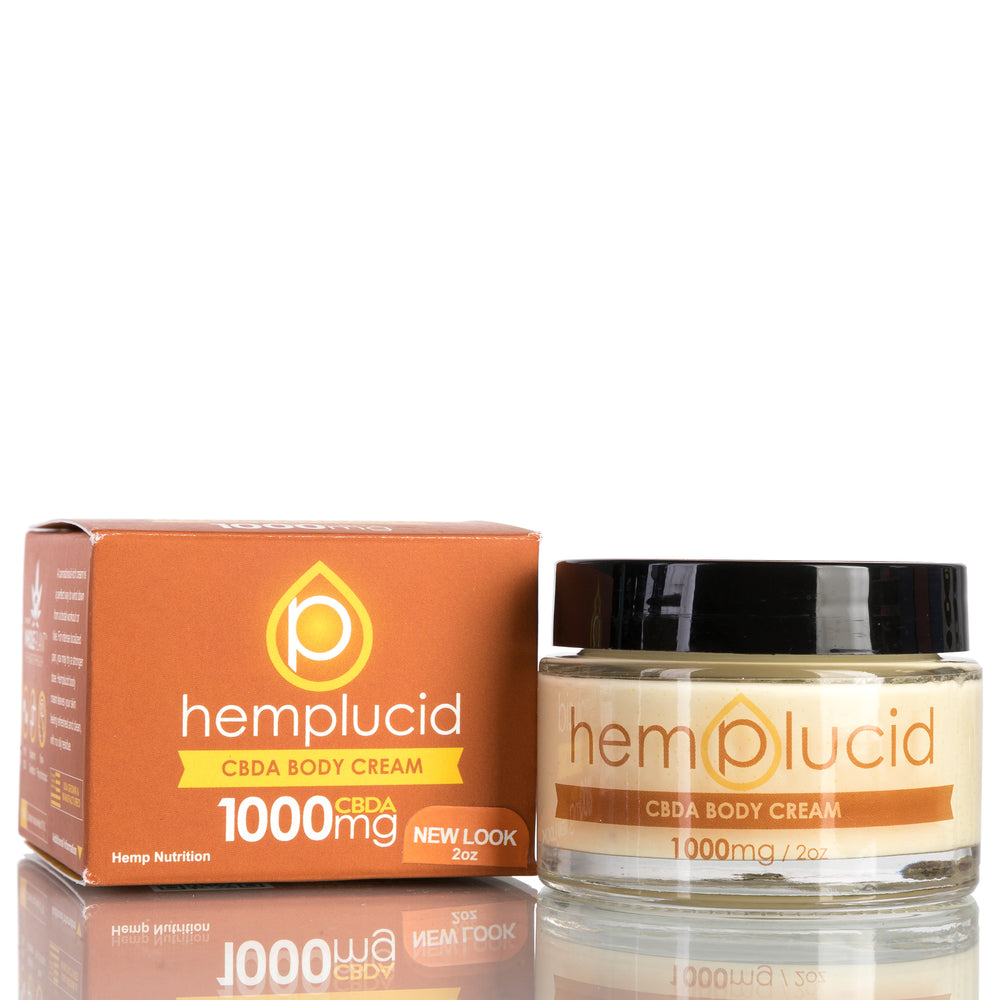 Hemp CBDA Body Cream by Hemplucid CBD Lotion - 1000mg/2oz