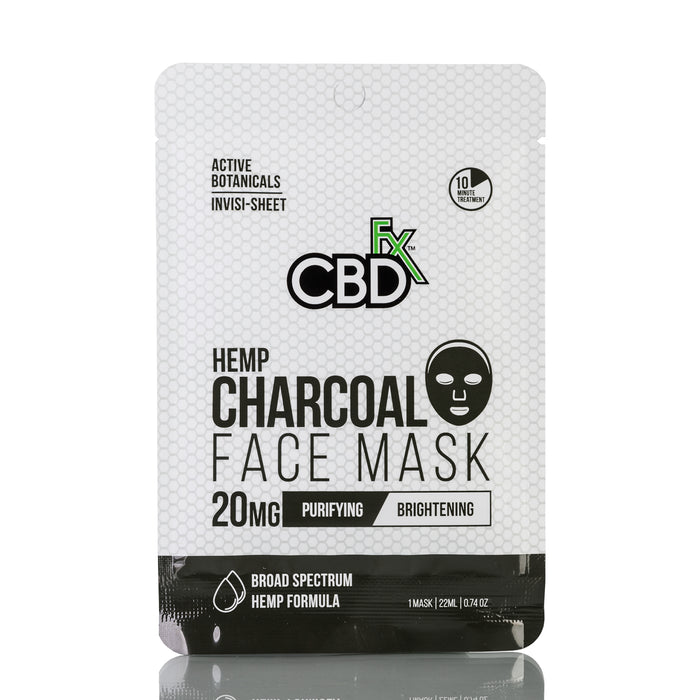 Hemp Charcoal Face Mask by CBDfx - 20mg