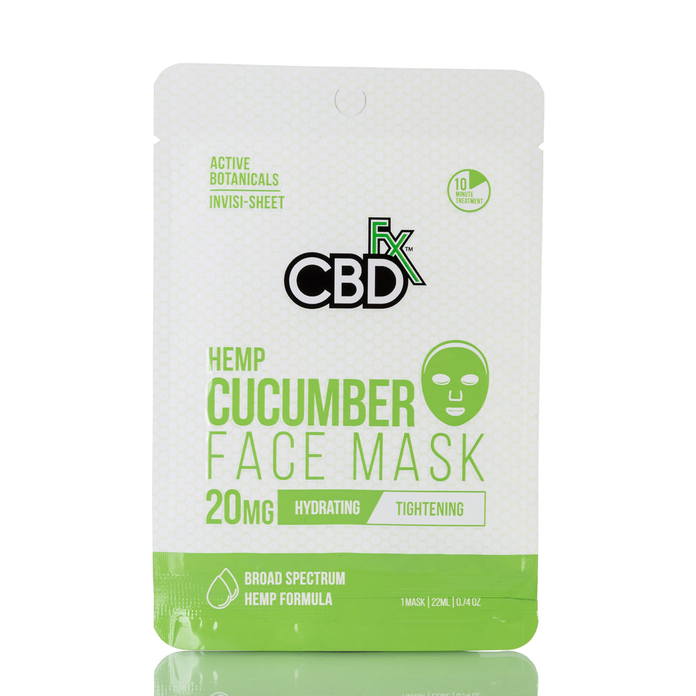 Hemp Cucumber Face Mask by CBDfx - 20mg