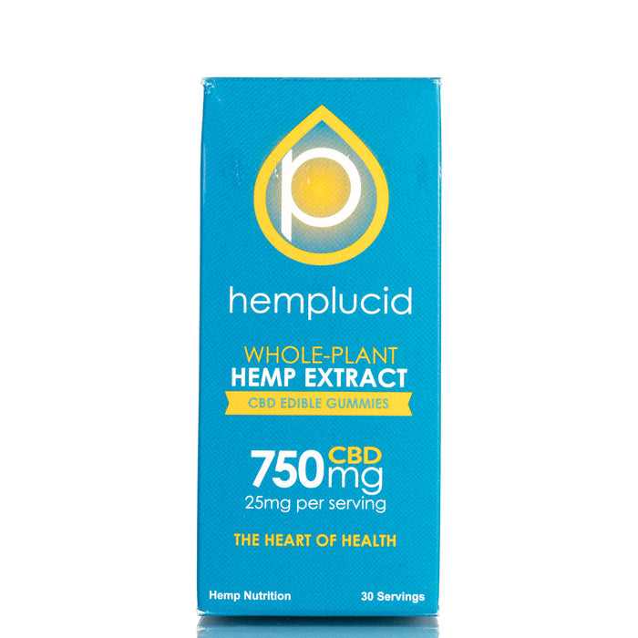 Hemp Extract CBD Edible Gummies by Hemplucid Gummies - 750mg/30ct