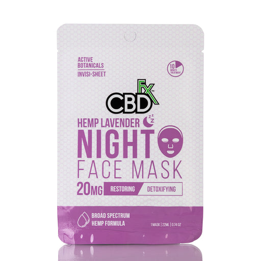 Hemp Lavender Night Face Mask by CBDfx - 20mg