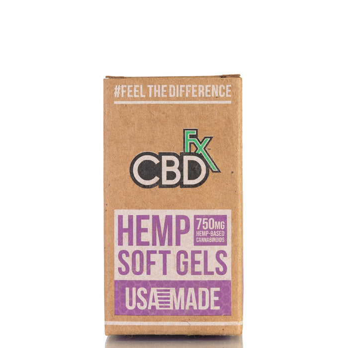 Hemp Oil Soft Gels by CBDfx Capsules - 750mg/30ct