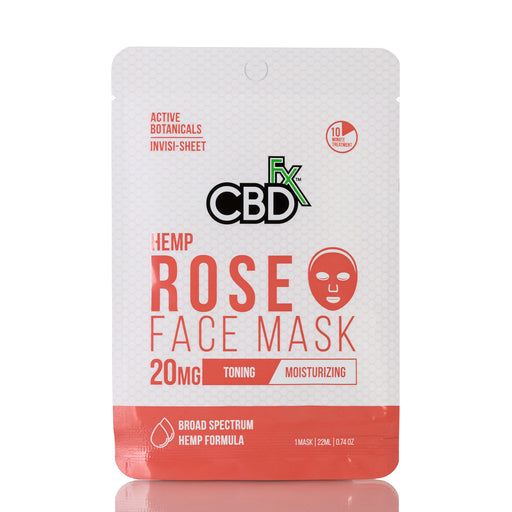 Hemp Rose Face Mask by CBDfx - 20mg