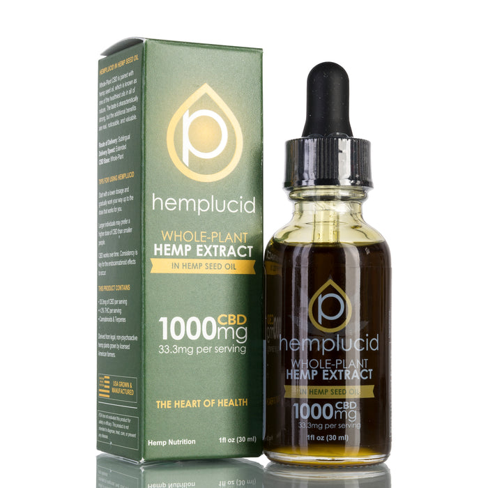Hemp Seed Oil by Hemplucid Tincture - 1000mg/30ml