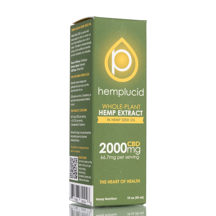 Hemp Seed Oil by Hemplucid Tincture - 2000mg/30ml