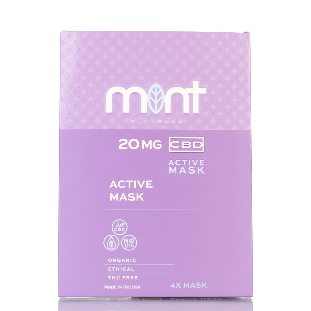 CBD Active Mask by Mint Wellness - 40mg/4ct