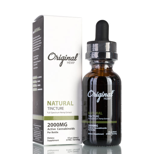 Natural Full Spectrum by Original Hemp Tincture - 2000mg/30ml