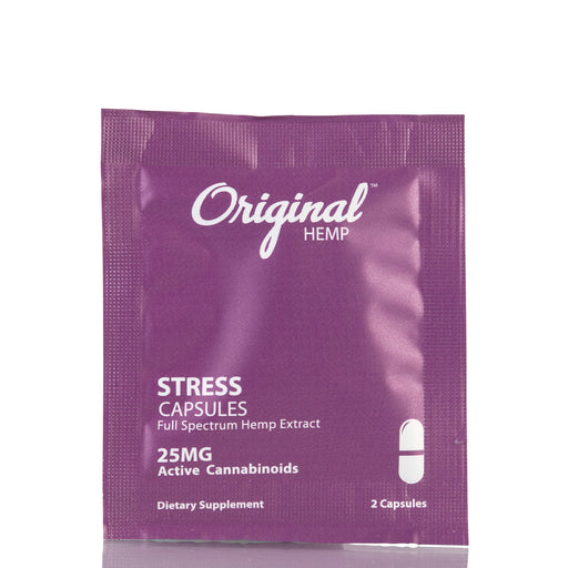 Stress Daily Dose by Original Hemp Capsules - 25mg/2ct