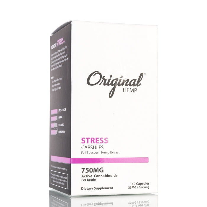 Stress by Original Hemp Capsules - 750mg/60ct