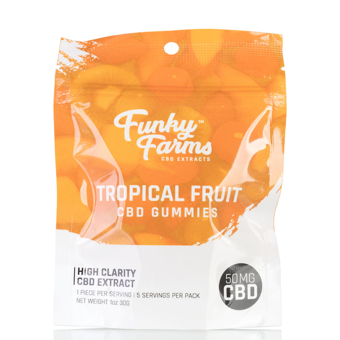 Tropical Fruit CBD Gummies by Funky Farms Gummies - 50mg/5ct