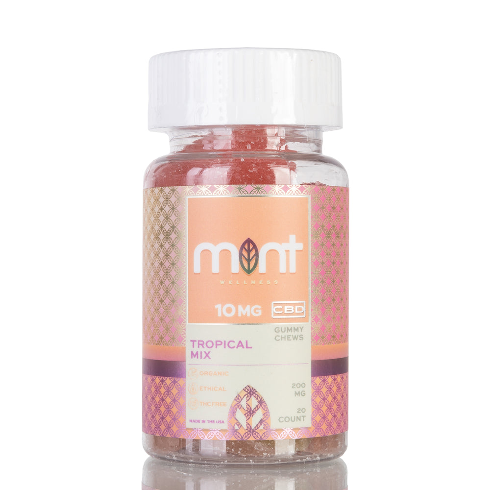 Tropical Mix Gummy Chews by Mint Wellness - 200mg/20ct
