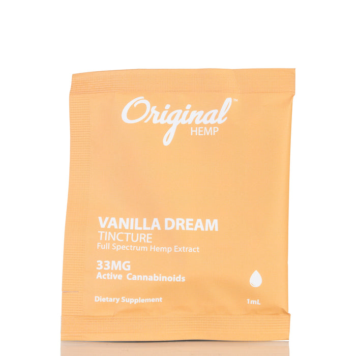 Vanilla Dream Daily Dose by Original Hemp Tincture - 33mg/1ml