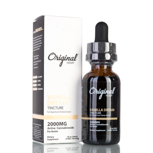 Vanilla Dream Full Spectrum by Original Hemp Tincture - 2000mg/30ml