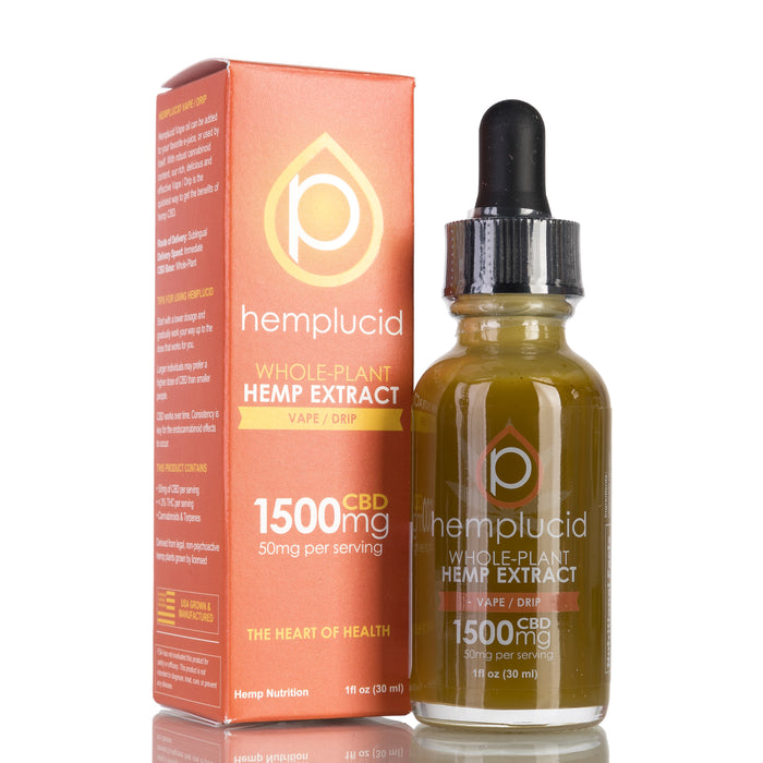 Vape / Drip by Hemplucid Tincture - 1500mg/30ml