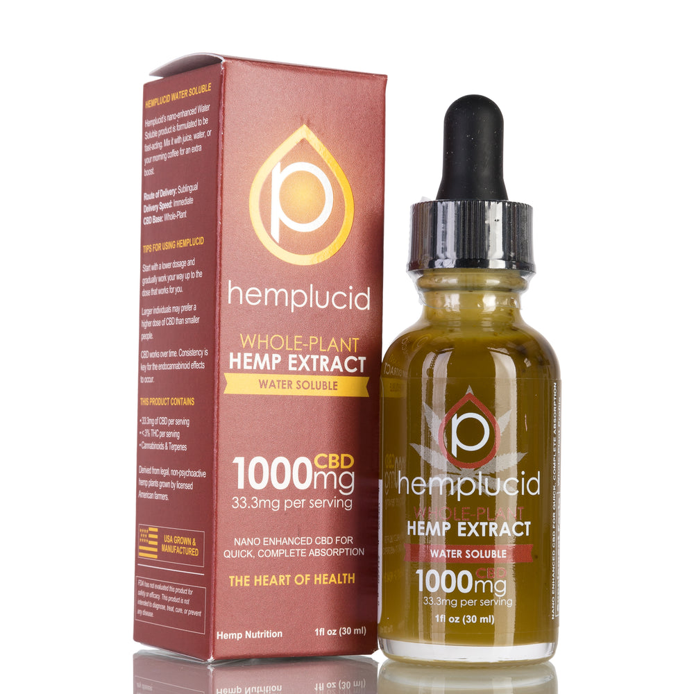 Water Soluble by Hemplucid Tincture - 1000mg/30ml