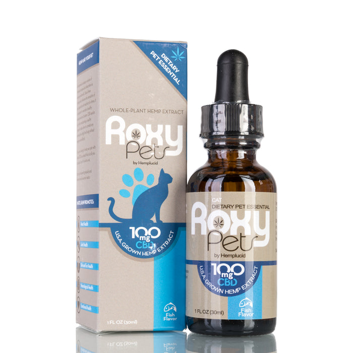 Whole-Plant Hemp Extract for Cats by Roxy Pets Tincture - 100mg/30ml