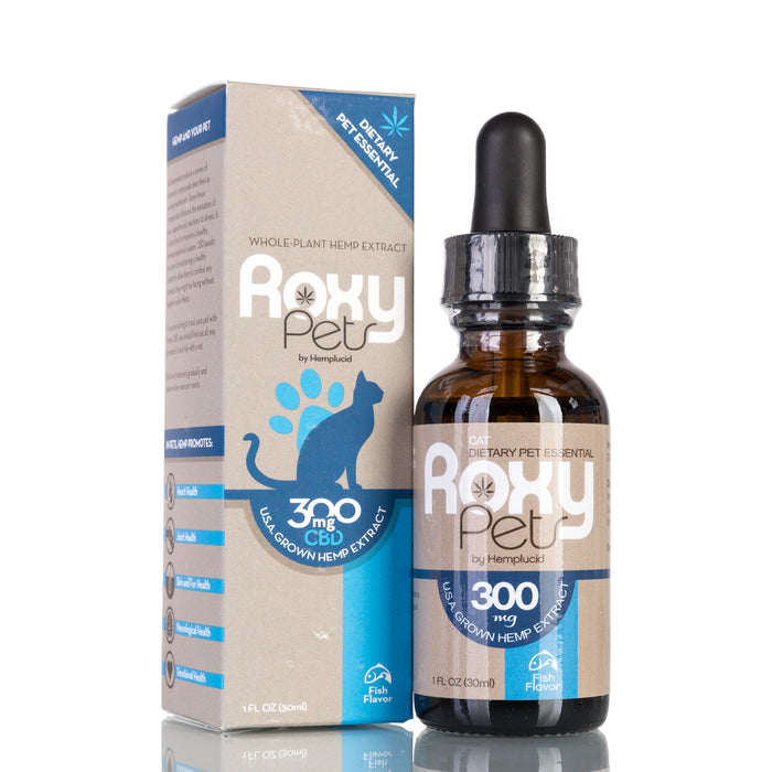 Whole-Plant Hemp Extract for Cats by Roxy Pets Tincture - 300mg/30ml