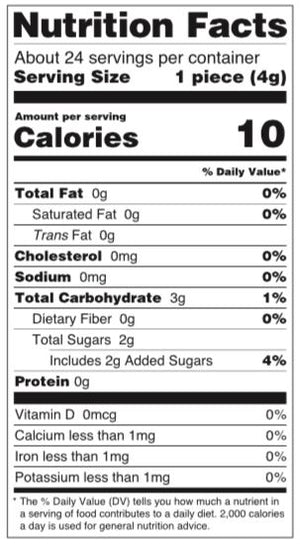 Wellness Blend Nutrition Facts Panel