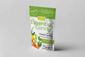 Health hard candy lemon, ginger, peppermint, lime, spearmint, rosemary, frankincense, myrrh, turmeric, cayenne , essential candy