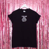 Can We Get Food On The Way? T-shirt | Black ,Pink Clouding
