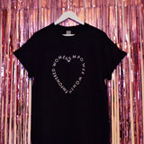 Empowered Women T-shirt | Black ,Pink Clouding