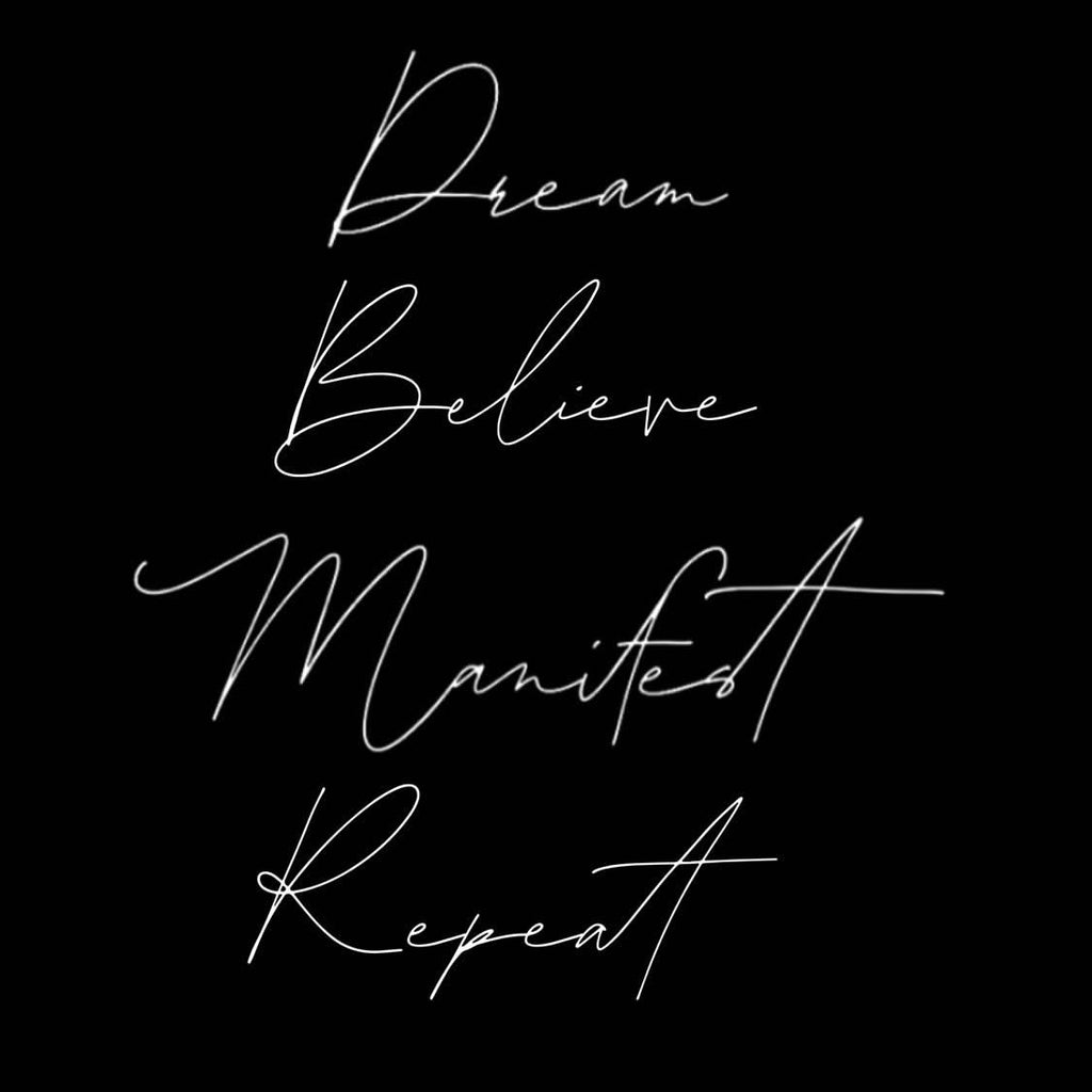 Dream Believe Manifest Repeat VM T-shirt Pack