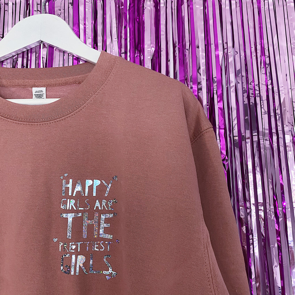Happy Girls Jumper | Dusty Pink ,Pink Clouding