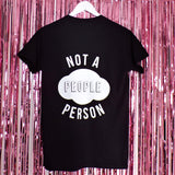 Not a People Person T-shirt | Black ,Pink Clouding