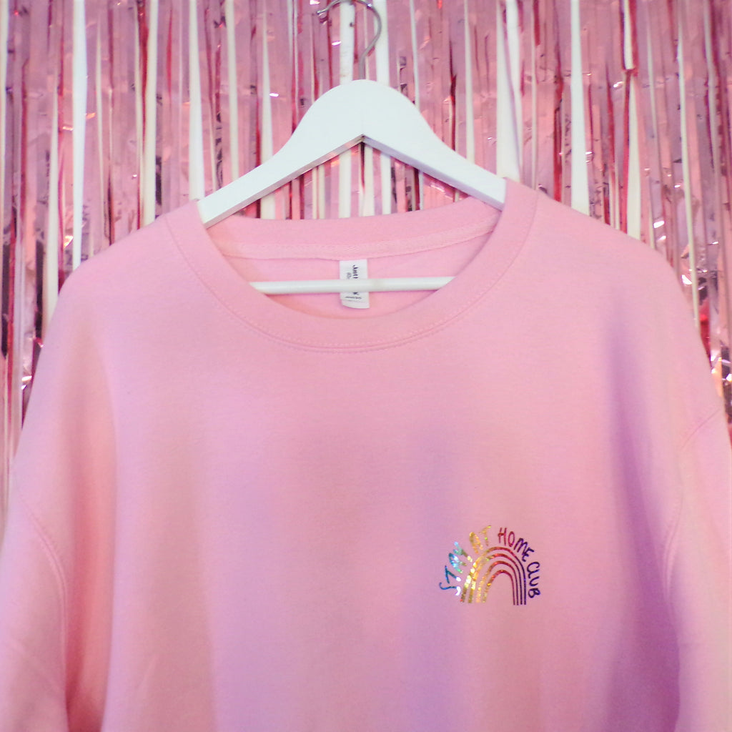 Stay at Home Jumper  | Baby Pink