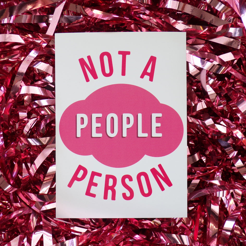Not A People Person | Postcard ,Pink Clouding