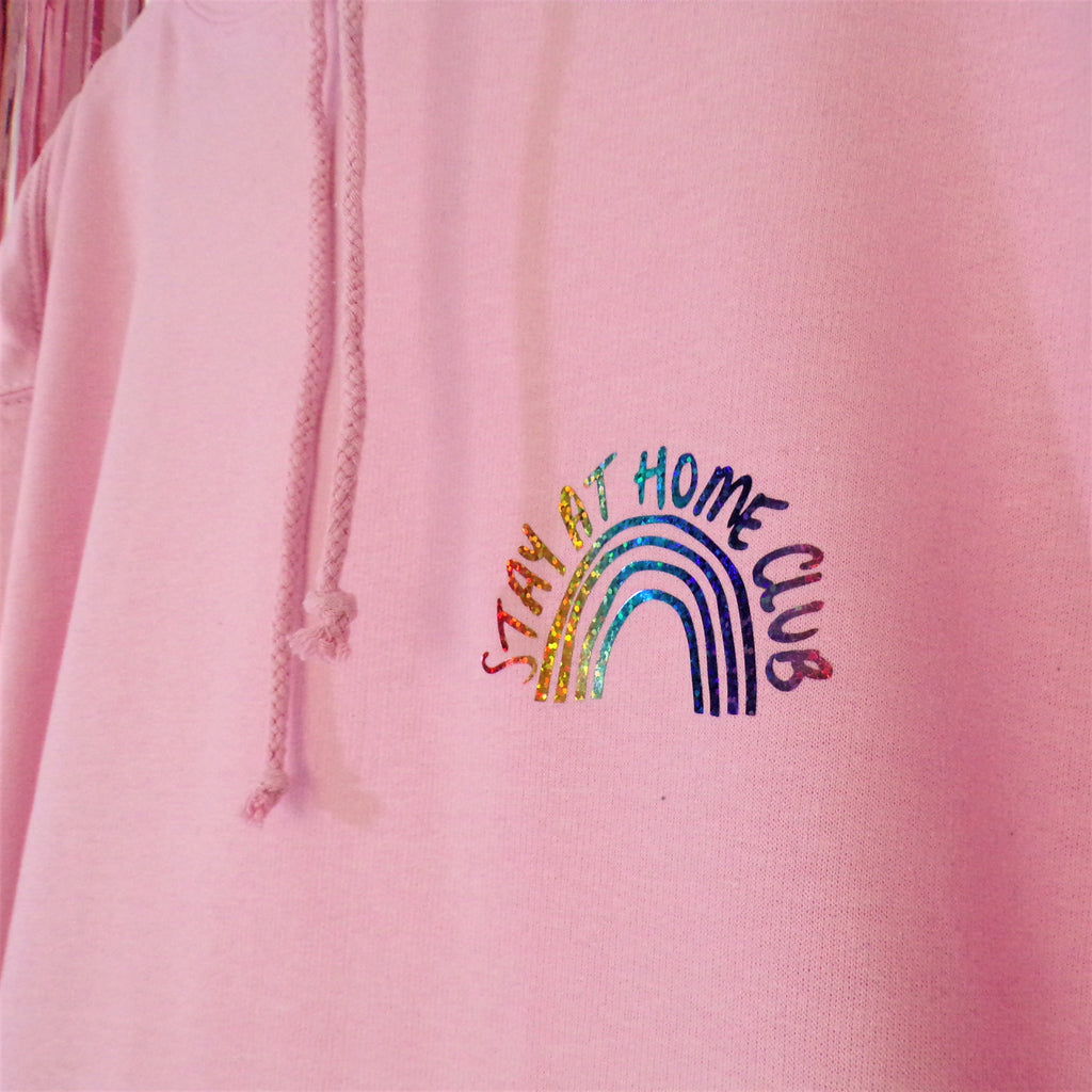 Stay at Home Hoodie | Baby Pink