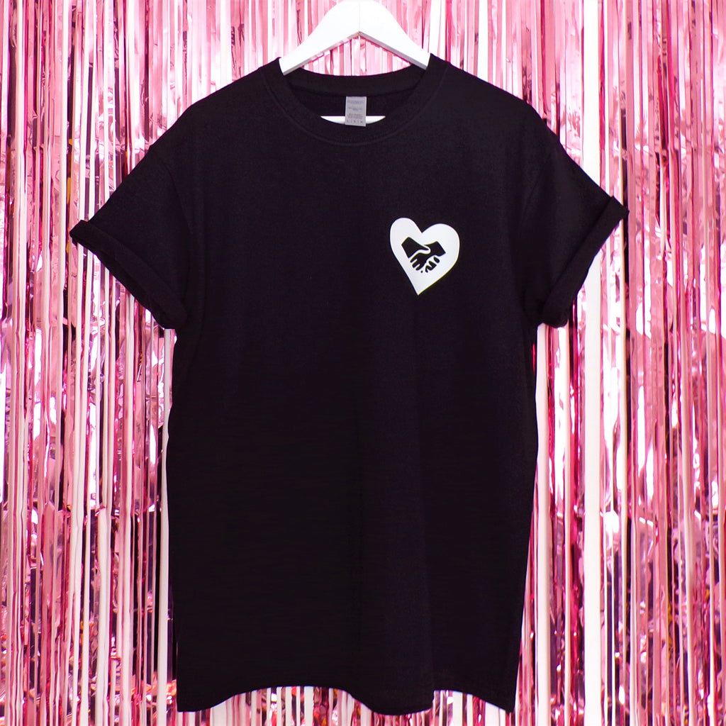 Togetherness T-shirt | Black ,Pink Clouding