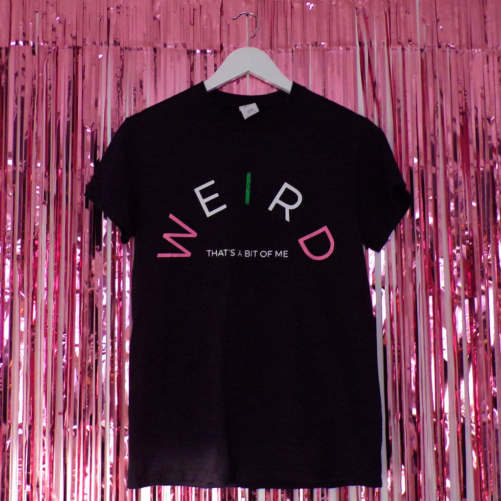 Weird T-shirt | Black ,Pink Clouding