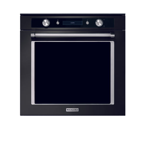 KitchenAid 17 Function  Pyrolitic Oven Black Steel Product Code KASO300DPB