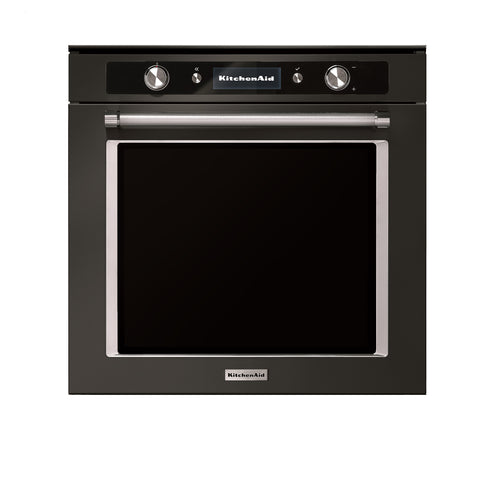 Kitchenaid Twelix Pyrolitic Black Steel Oven KASOT350DPB premium kitchen appliance