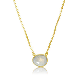 18ct Gold, Gold Plated, Vermeil, Labradorite Gemstone, Pendant Necklace, Rodgers and Rodgers