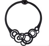 Necklace, rubber, recycled, vegan, circular, by Paguro