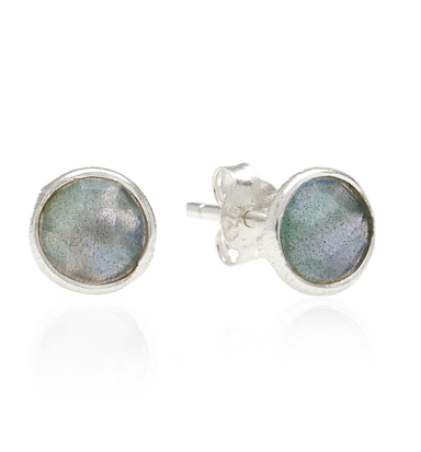 Handmade Sterling Silver, Labradorite, Gemstone, Stud Earrings,Handmade, Rodgers and Rodgers