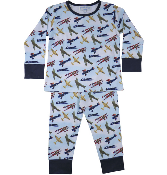 Douglas, Aeroplane, Pyjamas, Pyjama Set, Cotton, Soft Cotton, Vintage, Boy's Pyjamas, Children's Nightwear