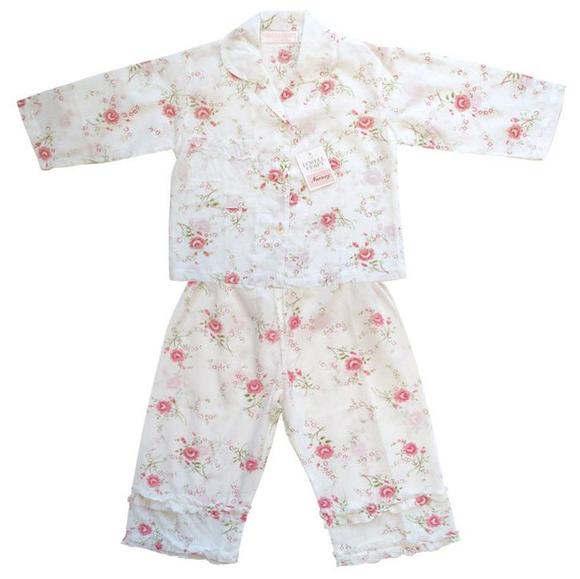 Rose Print Girl's Pyjamas