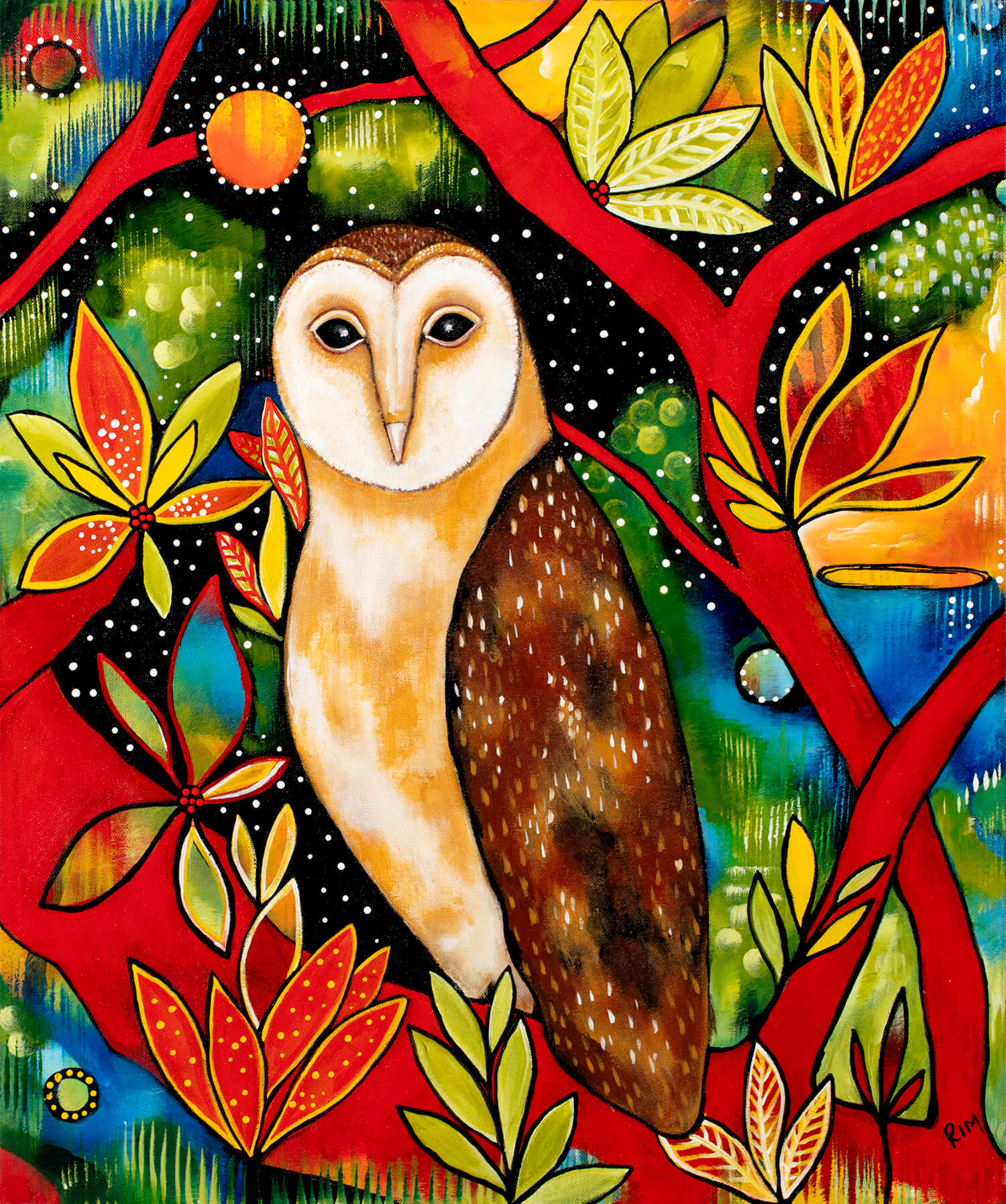 Bella (The Barn Owl) Original Artwork