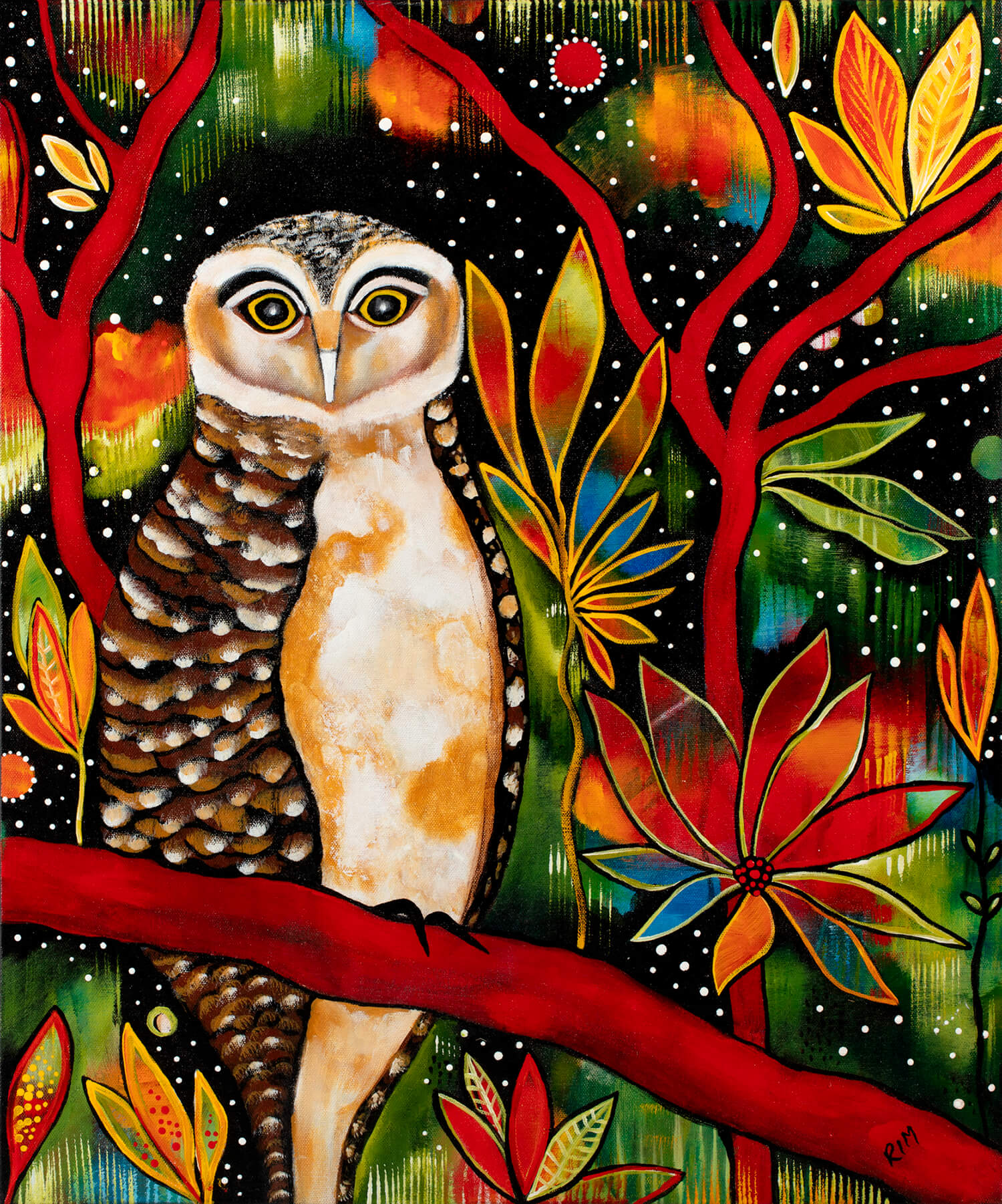 Big John (The Powerful Owl) Original Artwork