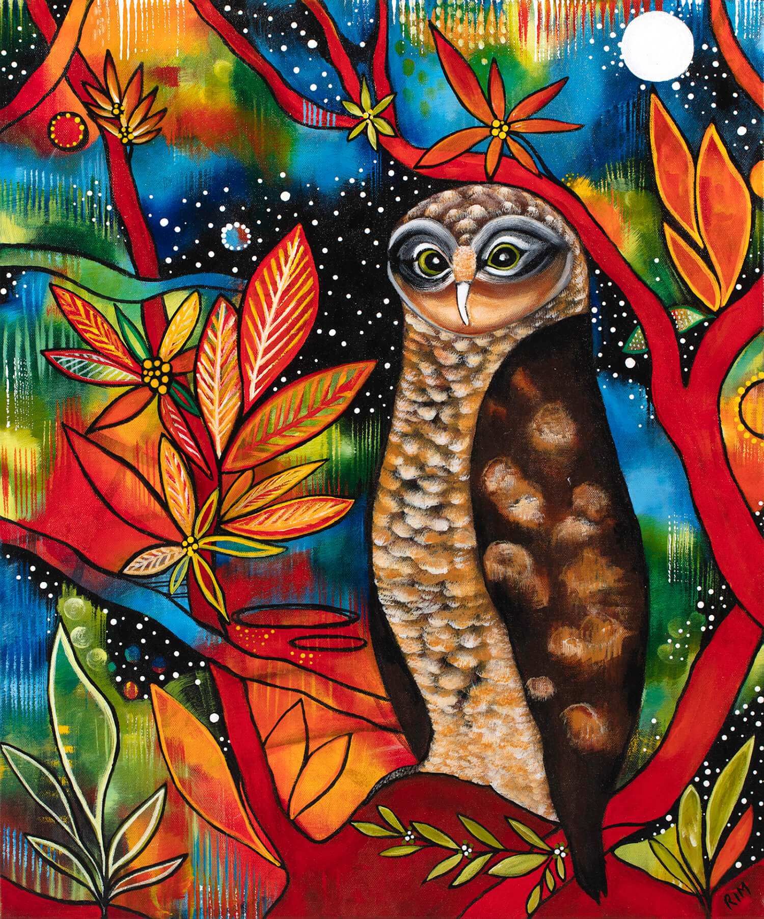 Jimbo (The Rufous Owl) Original Artwork