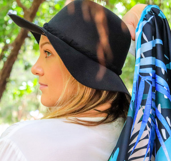 Raindrops and Palm Fronds (Teal) / Limited Edition Scarf