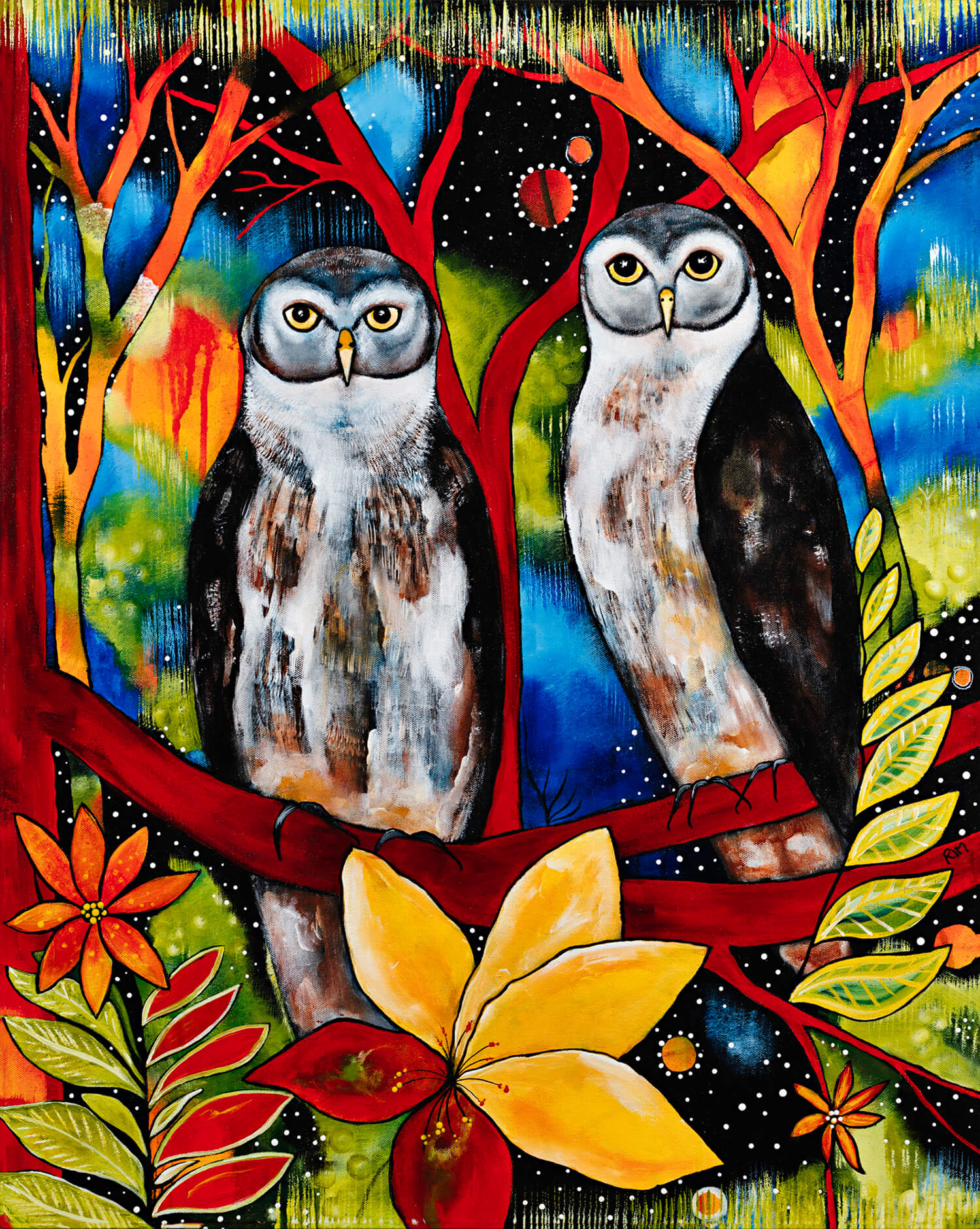 Ned & Kelly (The Barking Owls) Original Artwork