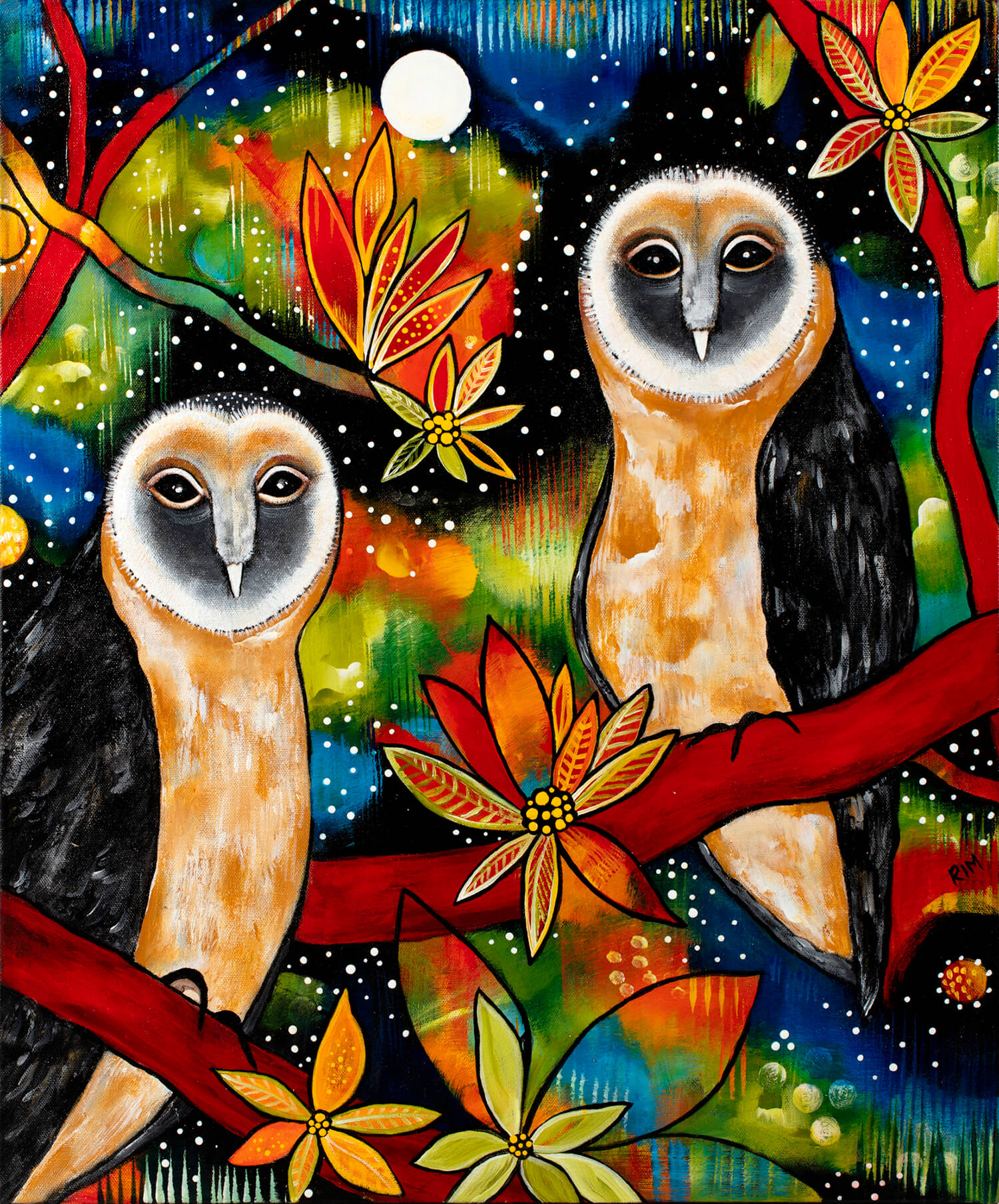 The Sooty Sisters (The Sooty Owls) Original Artwork