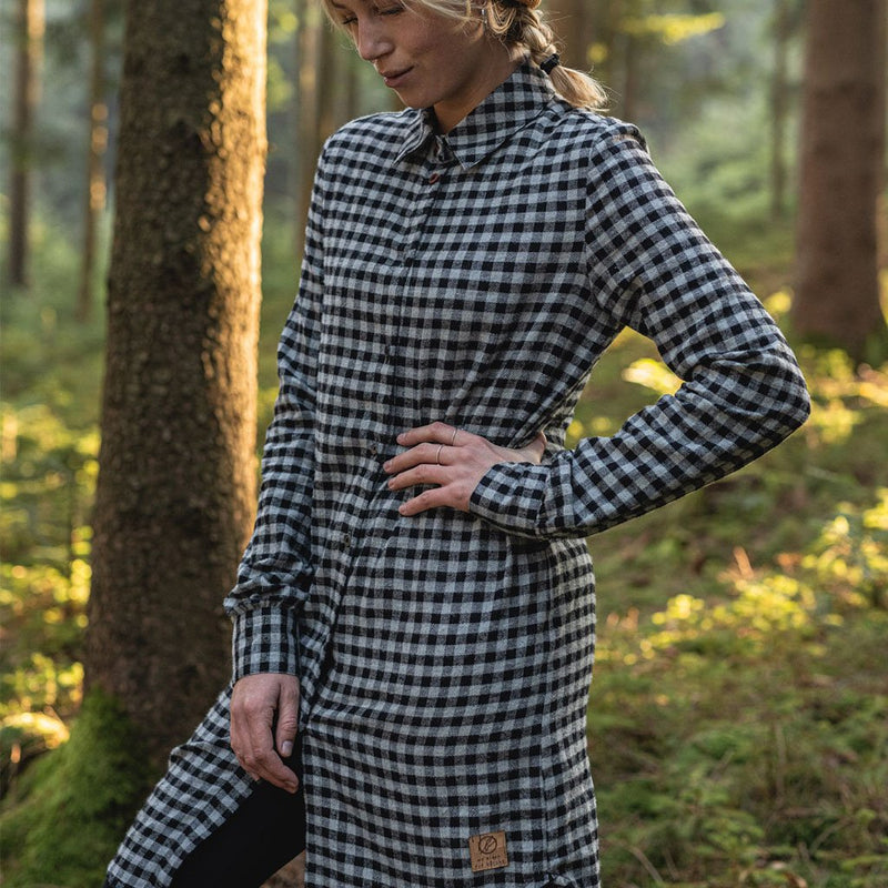 Small Checks Shirt - Black - Dam - Vindpinad