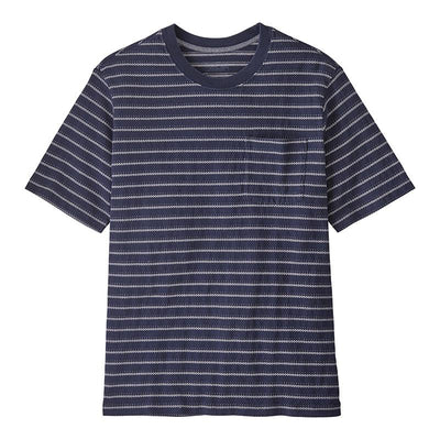organic cotton midweight pocket tee - herr - cordelette: new navy